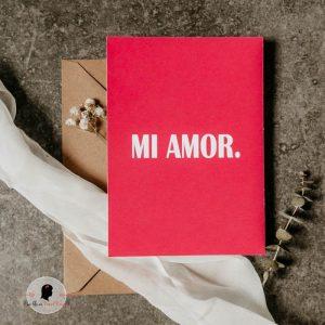 La fille au Noeud Rouge - Carte de la Saint Valentin Mi Amor
