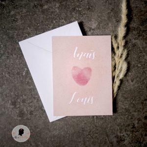 La fille au Noeud Rouge - Carte de la Saint Valentin empreintes digitales
