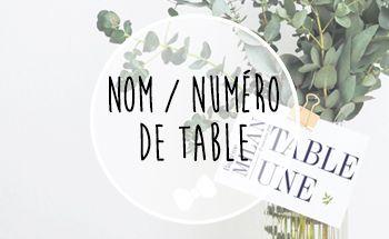 Nom / Numéro de table baptême personnalisé