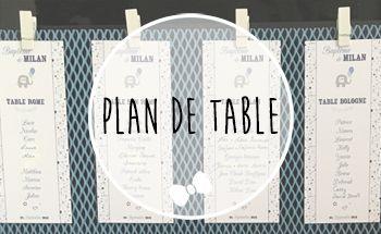 Plan de table baptême personnalisé