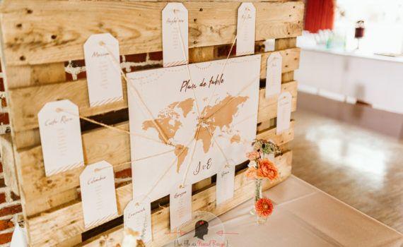 La fille au Noeud Rouge - Décoration papeterie mariage voyage kraft et blanc 7
