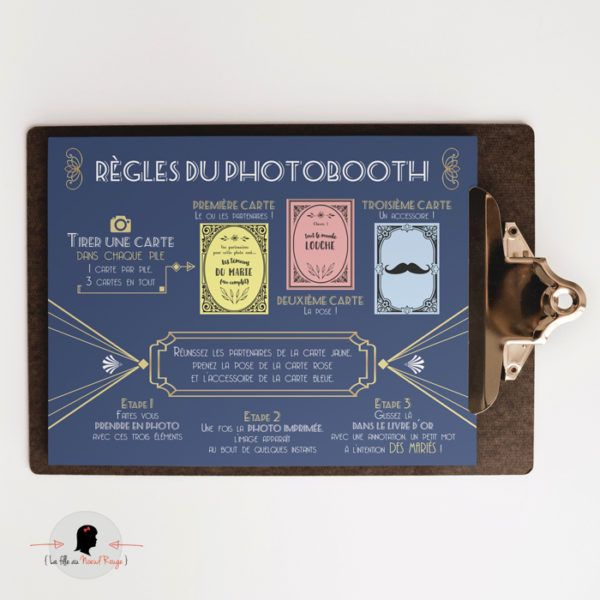 La fille au Noeud Rouge - Affiche photobooth mariage originale 2