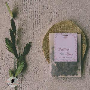 La fille au Noeud Rouge - Cadeau invités mariage nature champêtre liberty sachet de graines à semer