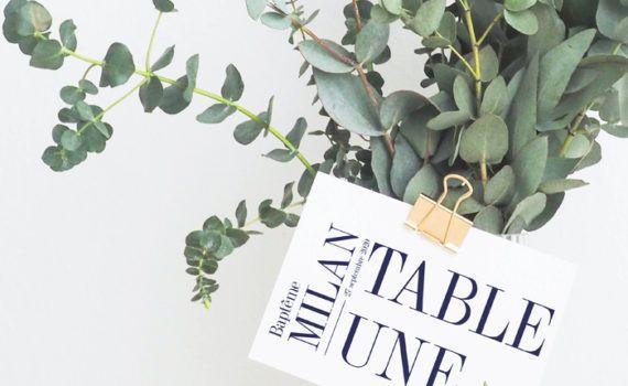 La fille au Noeud Rouge - Nom Numéro de table champêtre minimaliste végétal